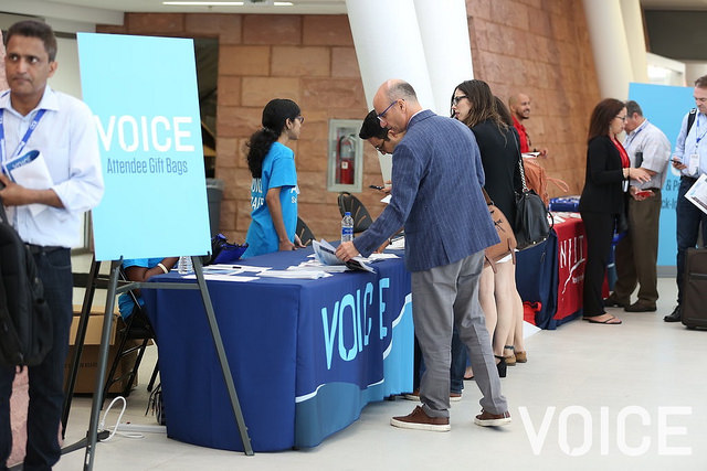 Attendees registering at VOICE Summit